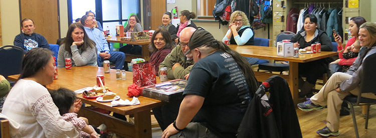 Cheyenne River Indian Outreach staff enjoyed a roast beef dinner and lots of laughs during their annual Christmas party.