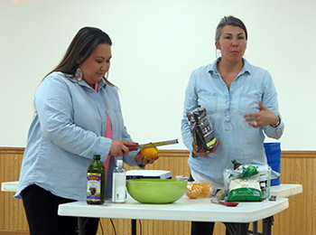 Kim, owner of Eagle Beauty Skincare, shared a recipe for a facial scrub using household ingredients.